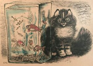 Three Hand-colored Lithographs by Famous Russian Illustrator E.I. Charushin