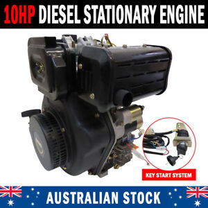 "NEW 10HP Diesel Stationary Engine Electric Start OHV 1"" Shaft Replacement Engine"