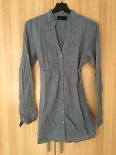 Bluse In Blau Mit Biesenfalten Von Vero Moda Gr S Aus 100% Baumwolle