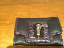 Juicy Couture New & Genuine Blue Leather Mini Credit Card Wallet With Logos