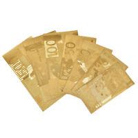 7Pcs / Set Euro Banknote Gold Paper Sheet Paper Crafts Collection Bank Diy De FE