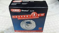 New Abus 26/90 Kd High Security Stainless Steel Keyed Different Diskus Padlock