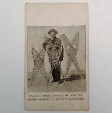 Antique Postcard Col. A M Dunham Norway Me. & Snowshoes Made For Explorer Peary