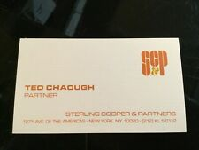 MAD MEN TV Show Original Movie Prop TED CHAOUGH Business Card SC&P