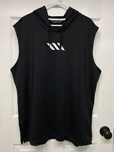 Adidas Basketball Club Men's Pro Madness Sleeveless Hoodie Tank Top: XL, Black