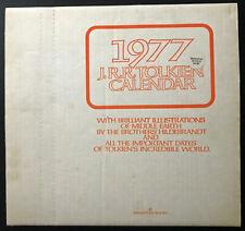 1977 Ballantine J.R. Tolkien Calendar Brothers Hildebrandt with Original Box Nm