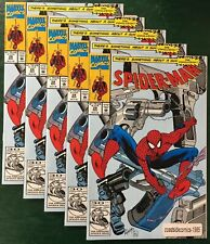 5 LOT SPIDER-MAN #28 SOMETHING ABOUT A GUN CONCLUSION 1992 NM