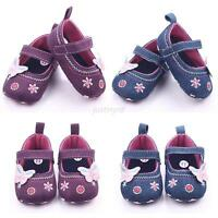 New Toddler Infant Baby Girl Flower Shoes Crib Shoes Prewalker  Size 0-12 Months