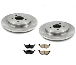 For 05-10 Ford Escape Rear Brake Rotors & Ceramic Pads Only With Rr Disc Brakes