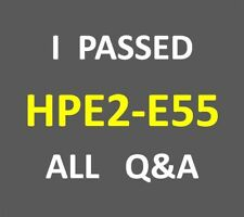 I Passed 166-QA HPE2-E55 - Exam Selling HPE Products, Solutions and Services E55