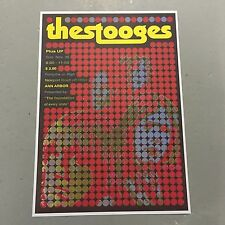 IGGY POP AND THE STOOGES - CONCERT POSTER ANN ARBOR SUNDAY 30TH NOVEMBER (A3SIZE