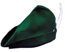 Morris Costumes Adult Unisex New Peter Pan Elf Felt Hat Green One Size. GC148