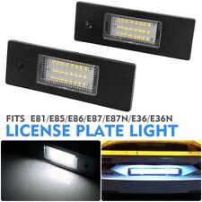 2X Luces LED para Matrícula Trasera BMW 1 6 Z Series E81 E87 E63 E64 Z4 Mini