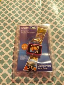 New Coby Digital Photo Keychain(Blue) DP-161 -1.5 LCD Display Brand New Sealed