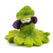 Green Felt Flower Fairy - Global Groove Handmade Bohemian Fair Trade