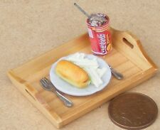 1:12 Scale Food Fixed On A Wooden Tray Tumdee Dolls House Kitchen Accessory bk7