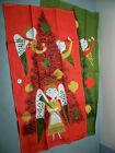 2 Vintage Unused Belgian Linen Tea Towels Tammis Keefe Christmas Noel