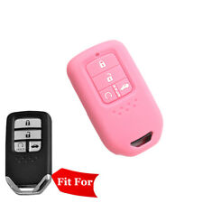 Fit Honda Accord Smart Remote Key Fob Silicone Case Cover 4 Buttons PINK