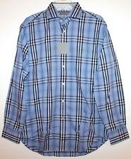 Thomas Dean Mens Navy Blue Check Designer Button-Front Shirt NWT $110 Size M