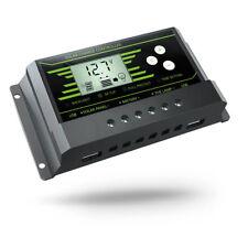 10A-Solar-Charge-Controller 12V-24V Regulator-LCD-Display-Panel-USB Charger