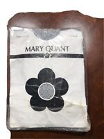 Vintage New 1970s MARY QUANT Fancy Tights Silver One Size