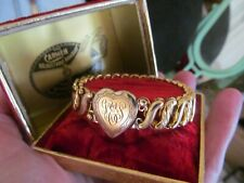 Vintage Sweetheart Expansion Bracelet Carmen DFB Co Gold Filled Heart LEG NIB
