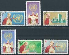 Togo - Papst Paul VI. bei der UNO Satz gestempelt 1966 Mi. 494-499