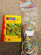 Scoubidou strings 80pcs + instruction book- creative crafts DIY weaving