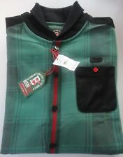 BORN FLY MEN'S LONG SLEEVE GREEN PLAID Button up SHIRT Sz 3XL MSRP $68