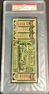 1940 INDIANAPOLIS 500 TICKET PSA 5 Graded Indy L@@K