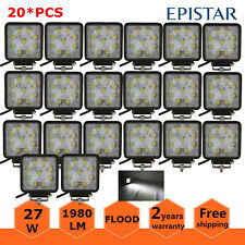 20X 27W 4INCH Square Led Work Light Lamp FLOOD Driving Off Road 4WD DRL SUV Boat