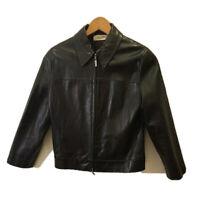 Calvin Klein Leather Jacket Women size 8