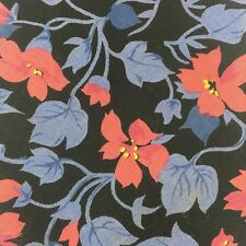 Tango Necktie by Max Raab Ivy Pattern Pink Flowers on Blue