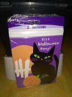 New Invitations Its a Halloween Party Invite Set of 8 Black Cat Pumpkin Hallmark