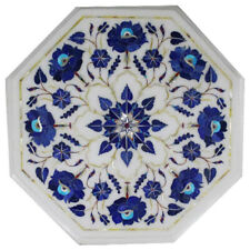 """12""""x12"""" Octagon Marble Inlay Table Top Home Decor"""