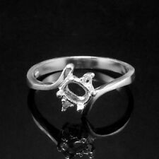 Ring Setting Sterling Silver 5x4 mm. Oval. size 6.75