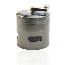 Portable Large 4 layer Hand Crank Herb Leaf Spice Tobacco Smoke Grinder Machine