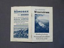 Hameln Weserstrom Reisebeschreibung der Personendampfschifffahrt, Fahrplan 1931