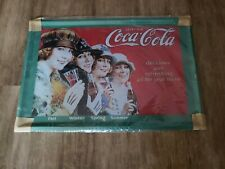 Coca Cola Reproduction Tin Sign - Four Ladies as Four Seasons