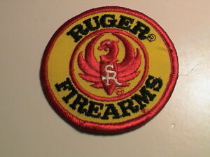 RUGER PHOENIX RIFLE PISTOL GUN HUNTING YELLOW & RED JACKET PATCH STYLE 2 NEW !