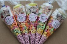 40 x Pre filled Kids Christening Sweet party cone Bags free postage