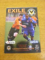 25/07/2009 Newport County v Carmarthern Town [Friendly] [At Cwmrban]. Thanks for