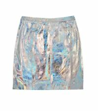 Gorman leather skirt size 10  holographic silver , RAINBOW CONNECTION