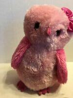 "Aurora Girlz Nation Pink Owl    12"" Plush Stuffed Animal"
