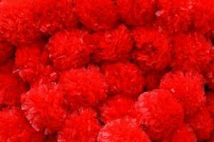 Wholesale lot 50 Pc Wedding hanging Red Color Garland Indian Marigold Wall Décor