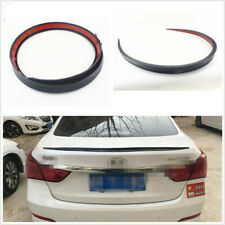 1*Soft 1.2M Black Automobile Spoiler/Roof/Hatch Decoration Sticker Wing Lip Trim