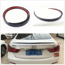 1*Soft 1.2M Black Automobile Spoiler/Roof/Hatch Decoration Sticker Wing Lip Trim