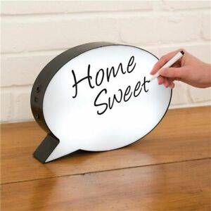 Writing Board Party Decoration Night Light Box Bubble Shape Handwriting Lamp New