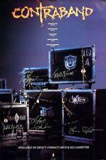 M.S.G. 1991 Contraband Promo Poster Vixen L.A. Guns Original