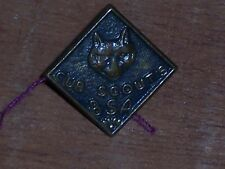 Vintage Cub Boy Scouts USA BSA Member Pin Badge Clutch Back Brass